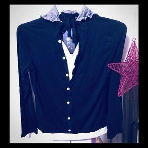 VSKA  Unisex Mock Blazer/Shirt Combo